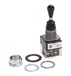 Allen-Bradley Joystick - 800T-T2H3EEXX - Toggle Switch, 2 Way, Spring Return, 30mm, 1NO/NC Contact