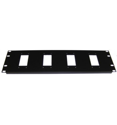 "3U 4x10pol hartingstik til 19"" rack"