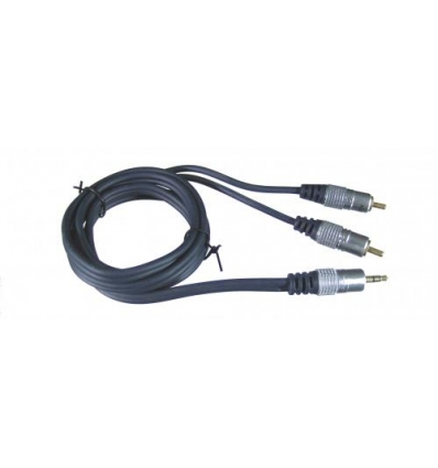 3.5mm Minijack til 2 x Phono kabel (2,5 meter)