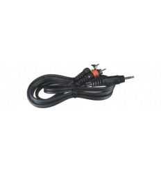 3,5mm Minijack til 2 x Phono kabel (5 meter)