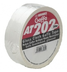 Advance AT202 Gaffa tape i hvid - 50mm