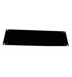 "Flad rackpanel - 3U front til 19"" rack"