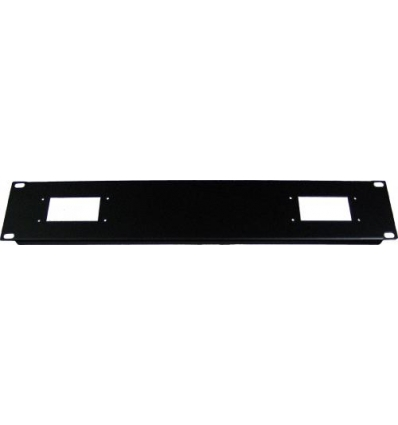 "2U 2x10pol hartingstik til 19"" rack"