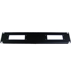 "2U 2x24pol hartingstik til 19"" rack"