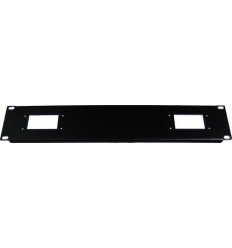 "2U 2x6pol hartingstik til 19"" rack"