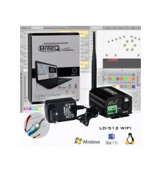Briteq LD-512 WIfi - DMX software til PC - DMX Interface
