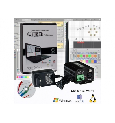 briteq ld 512 wifi dmx software til pc dmx interface. Black Bedroom Furniture Sets. Home Design Ideas