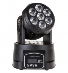 Clubwash - Wash Moving head - 7x12V RGBWA UV LEDS